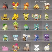Takara tomy pokemon pikachu eevee venusaur charmander torchic litten anime actie & brinquedo figuras modelo brinquedos para crianças