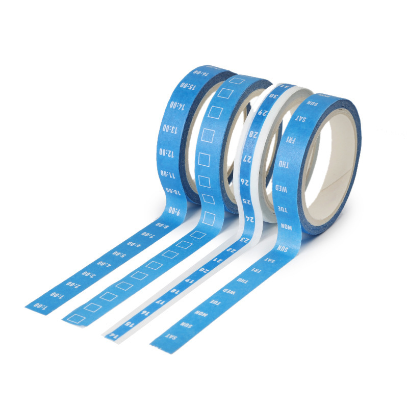 4pcs/Set Schedule To Do List Day Week Weekly Time Date Check Box Decorative Masking Washi Tape  Adhesive Tapes  Sticker Label