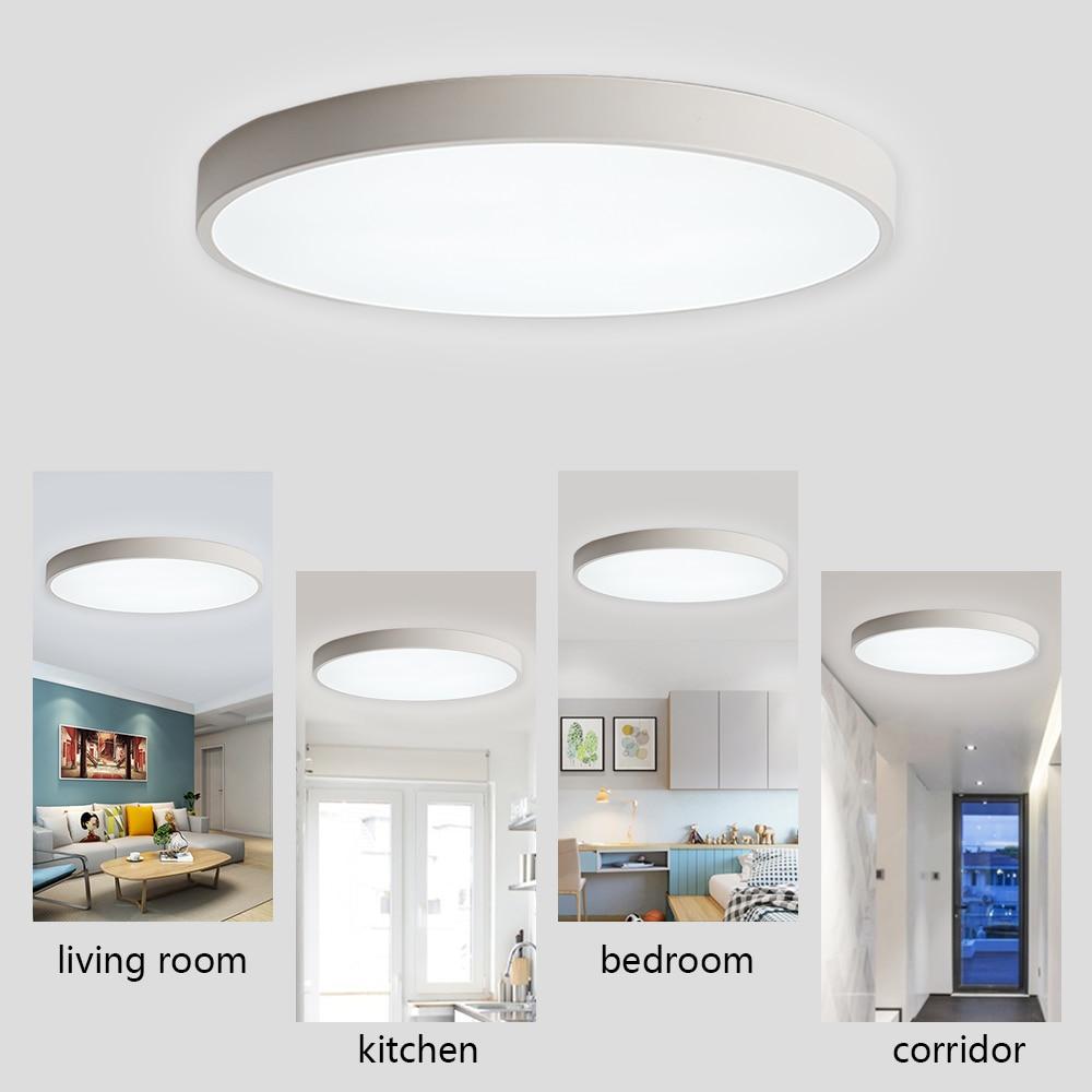Ultra-thin Bedroom Ceiling Led Ceiling Lamps 18w 220v Room Lights Lighting Fixture Ultrathin Led Ceiling Light For Living Room