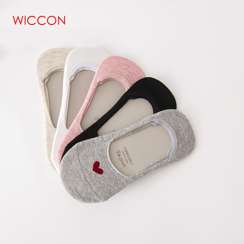 Women's Socks & Hosiery Invisible Cotton Socks No Show Nonslip Loafer Liner Low Cut Sweet Printed Lady Necessity Sock Slippers