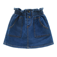Girl Skirts Baby girl Clothes Children Skirt Jeans Culottes Short Girls 2019 New Style Childrens Korean casual
