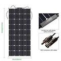 100w 모노 세미 유연한 태양 전지 패널 12V 유연한 태양 전지 패널 캐 러 밴  보트  세미 유연한 모듈 100W|태양광 셀|   -