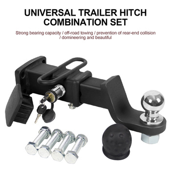 Adjustable Trailer Hitch Ball Mount Steel Tow and Stow Hitch