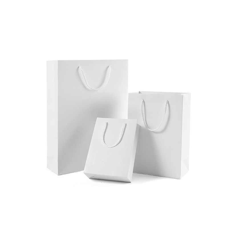 Wit Karton Gift Bag Papier Kleding Pakket Verjaardag Festival Christmas Party Gift Bag Verschillende Maten 40x10x30cm
