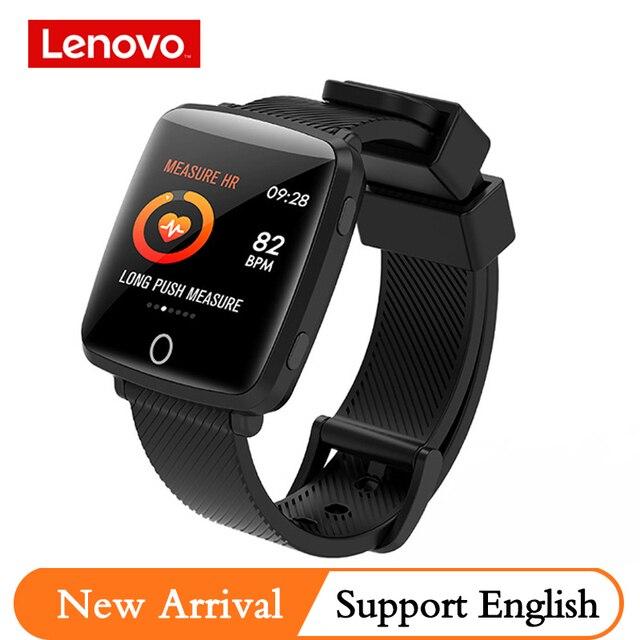 Lenovo HW25P bande intelligente IP68 étanche 200mAh BT4.0 2.5D surface incurvée montre intelligente anglais rappel Sport étanche Smartband