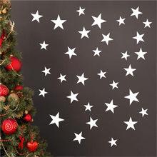 Tamanho misto estrelas diy estrela arte espelho adesivo de parede acrílico adesivos de parede para sala estar quarto adesivos muraux adesivos de pare