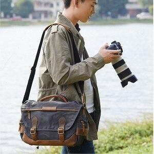 Image 5 - Vintage كاميرا ريترو مقاوم للماء الباتيك قماش التصوير الكتف رسول عادية صور الرجال النساء حقيبة لكانون نيكون سوني DSLR