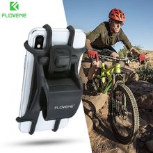 купить FLOVEME Universal Motorcycle Phone Holder Bicycle bike Phone Holder Handlebar Cell Phone Stand Mount Bracket For iPhone X Xiaomi дешево