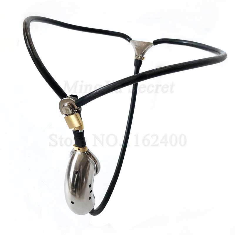 New Stainless <font><b>Steel</b></font> Male Underwear Chastity Device,Virginity Belt,Cock Cage,<font><b>Penis</b></font> <font><b>Rings</b></font>,Restraint Bondage BDSM Sex Toys for Man image