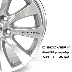 4PCS For Land Rover Discovery 3 4 2 Freelander Evoque Velar Supercharged Autogiography Wheels door handle decal sticker(China)