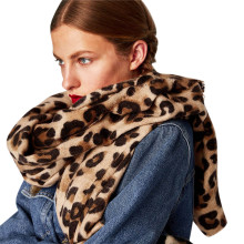 cashmere scarf Leopard print winter women wool Brand shawl hijab luxury for ladi