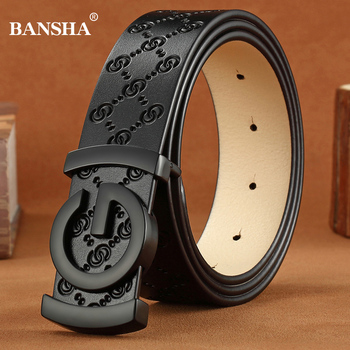 High Quality Belts for Men Cowskin Genuine Leather Waistband Fashion Mens Belt Smooth Buckle Women Strap Vintage Jeans Accessory Fashion & Designs Men's Belt Men's Fashion