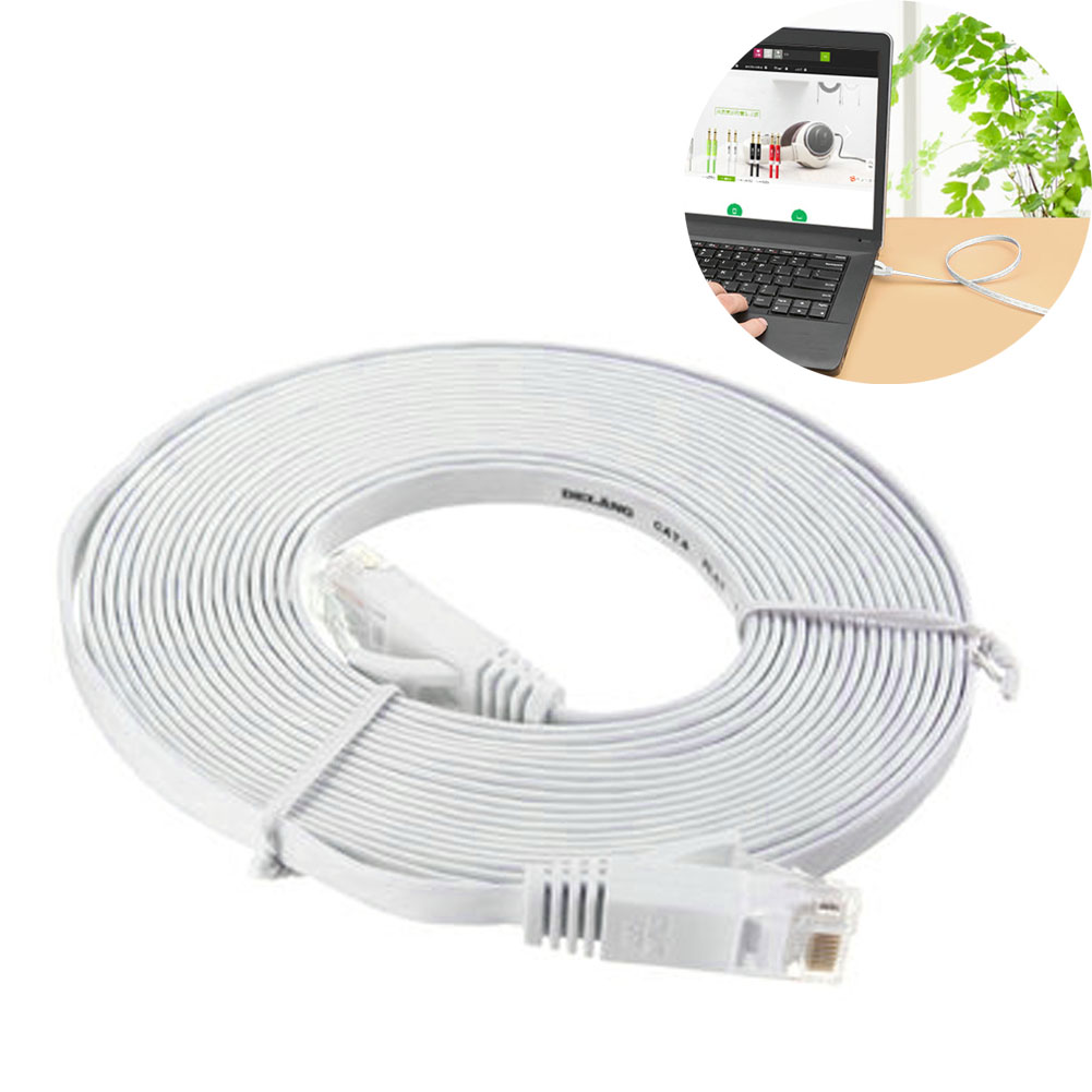 50 Ft(15 Meters) Durable Computer Cable Ethernet RJ45 Network Cat 6 Flat