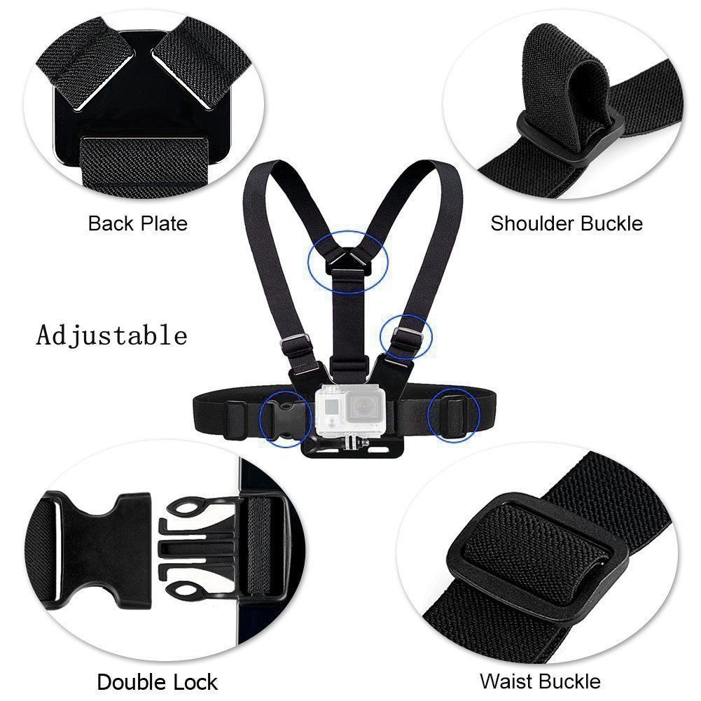 Chest Strap Mount Belt for Gopro Hero 9 8 7 6 5 Xiaomi Yi 4K SJCAM SJ4000 Action Camera Gopro Accessories Chest Mount Harness-2