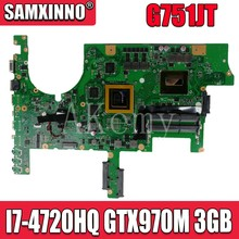 G751JT MB_0M/I7-4720HQ/AS GTX970M 3GB 90NB06M1-R00040 Mainboard For Asus ROG G751JT G751JY G751JL G751J G751 laptop motherboard(China)