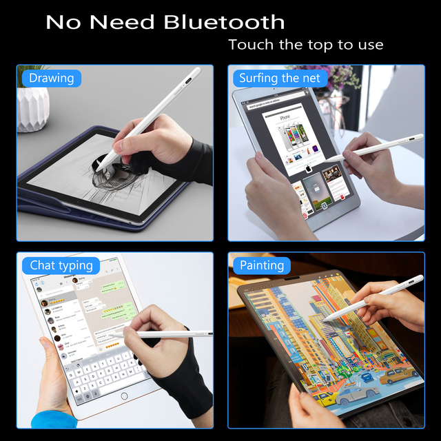 For iPad Pencil Stylus Pen for Apple Pencil 1 2 Touch Pen for Tablet IOS Android Stylus Pen for iPad Xiaomi Huawei Pencil Phone 2