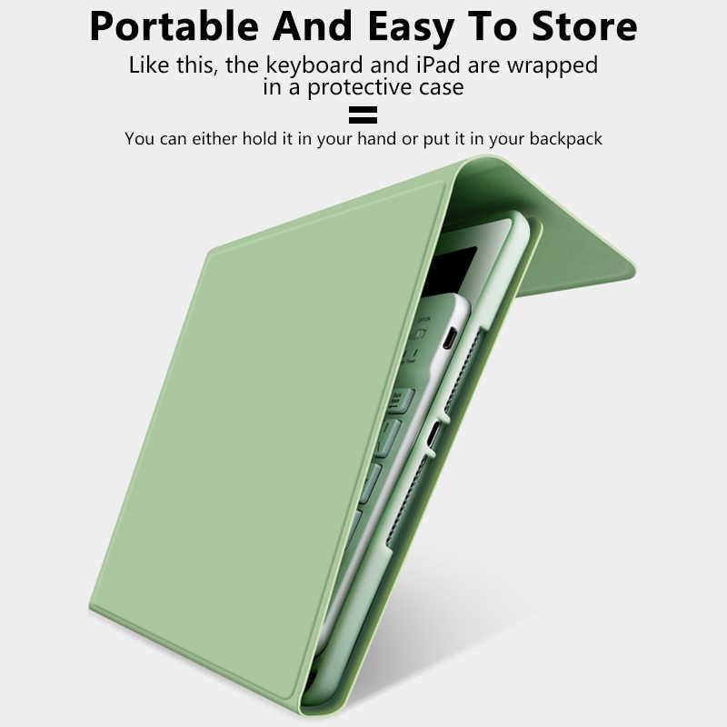 Funda para ipad 10,2 con teclado para ipad 7 generación/9,7 2018 / Air 2 1 / Mini 4 Mini 5/funda para iPad Pro 11 2020