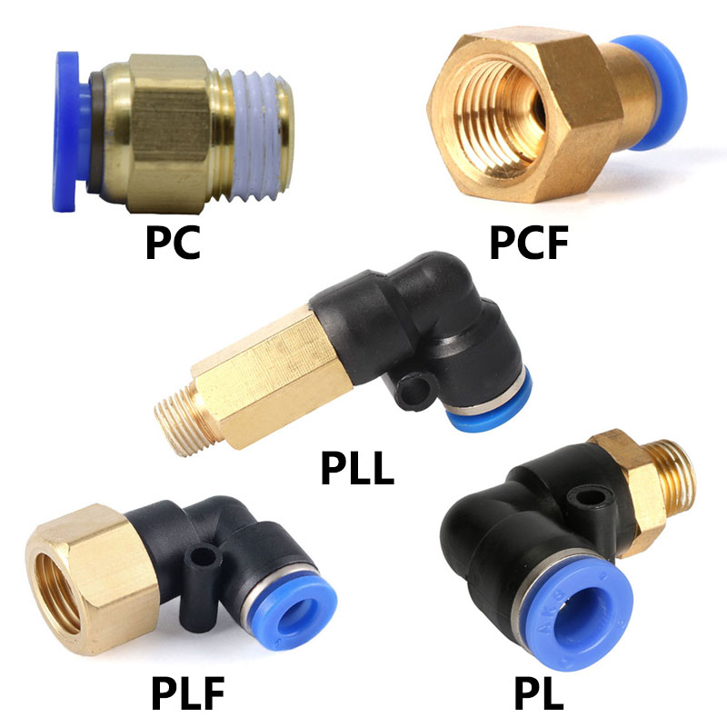 Straight Pneumatic Thrust for Quick Connect Connections G 1//8Male x 6 mm OD Tube 4 Pieces