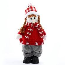 Рождественская кукла подарок настольная елка набор окон молочный