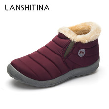 2019 Women Boots Waterproof Winter Shoes Women Snow Boots Platform Keep Warm Ankle Winter Boots With Thick Fur Heels Botas Mujer цена 2017