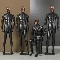 Men's Whole Body Garment Shop Mannequin Electroplated Face Dummy Shop Window props Black Korean version Men's Model