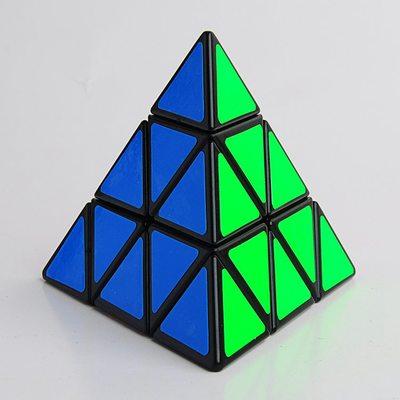 Pirâmide mágica velocidade cubo pirâmide cubo magico quebra-cabeça profissional educação brinquedos para crianças