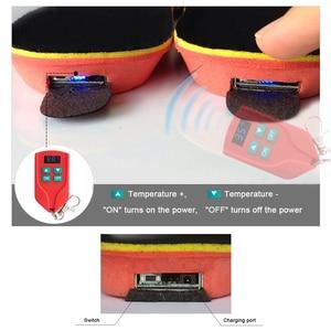 Image 4 - Yeni 2000mAh kablosuz ısıtma astarı kış sıcak ayakkabı tabanlık uzaktan kumanda pili şarj ısıtmalı tabanlık boyutu EUR 35 46 #