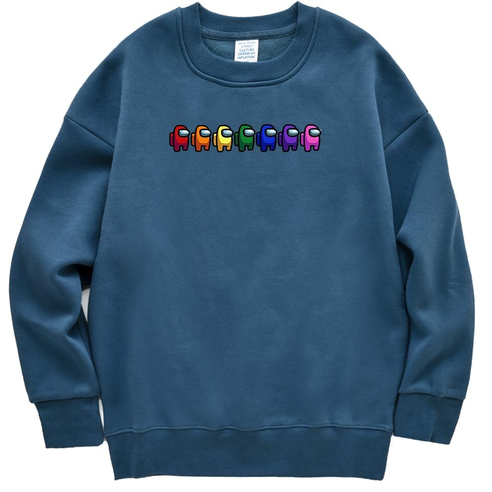 Men Hoodies Sweatshirts Pullover Streetwear Rainbow Anime Cartoon Game Funny Hip-Hop