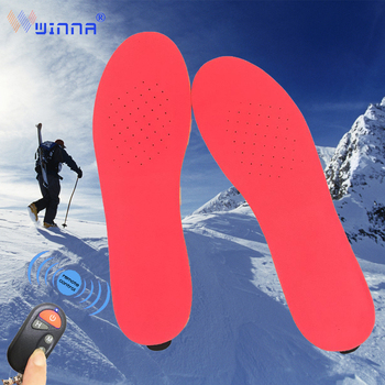 Unisex Rechargeable Battery Heated Insoles with Remote Control Velvet Breathable Winter Sport Outdoor Required Thermal Insoles