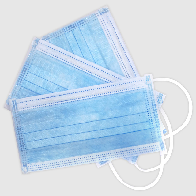 50 pieces wholesale disposable 3 layer protective mask windproof dustproof mask antibacterial anti flu mask care 3
