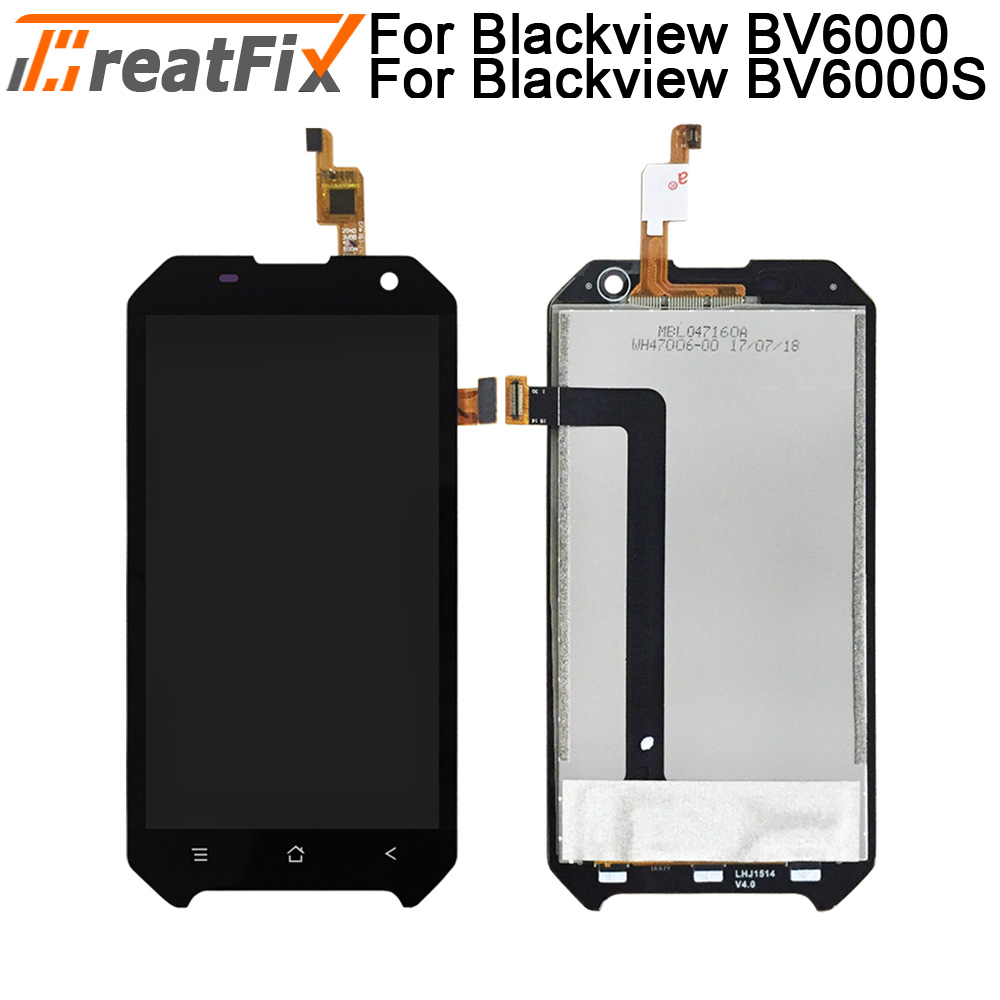 Tested 100% Original For Blackview <font><b>BV6000</b></font> <font><b>LCD</b></font> Display and Touch Screen Digitizer Assembly For Blackview BV6000S 4.7