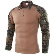 Camiseta de camuflaje de rana para hombre, ropa de manga larga táctica militar de secado rápido para senderismo, entrenamiento, pesca y caza, 5XL