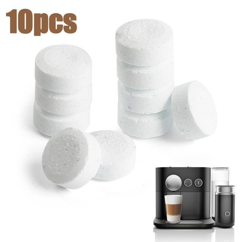 10 pçs máquina de café espresso limpeza tablet efervescente descalcificação agente all-purpose cleaner casa ferramentas tslm2