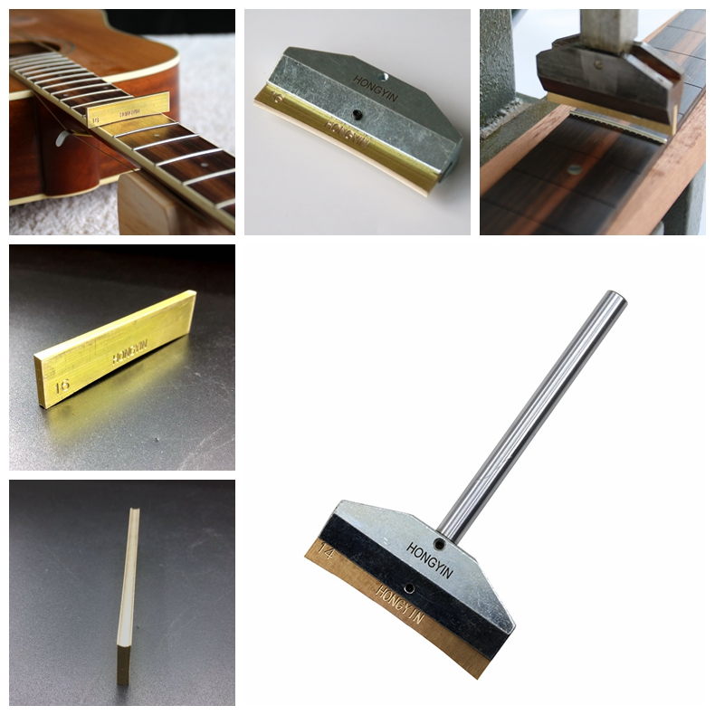 Guitar Fingerboard Fret Press Caul With Brass Insert For Guitar Bass Guitar Wire Replacement Tool