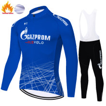 2021 new gazprom team ciclismo ropa Winter Thermal Fleece Outdoor 20D gel pad Bike ropa de ciclismo para hombre