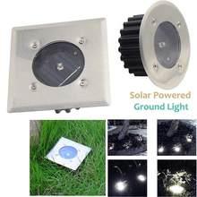 Solar de acero luces subterráneas Ip44 impermeable escaleras Led Luz de suelo lámpara enterrada jardín empotrada iluminación empotrada