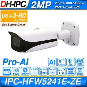 Dahua oryginalny IPC-HFW5241E-ZE Pro AI 5-krotny ZOOM POE SD gniazdo alarmowe Aduio we/wy H.265 IP67 IK10 50M IR z możliwością aktualizacji kamera IP
