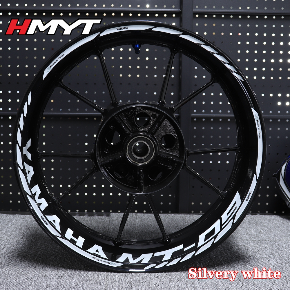 Suitable For Yamaha Mt03 Mt07 Mt09 Mt10 Motorcycle Refitting Waterproof Reflective 17 Inch Wheel Hub Sticker Personality Decal