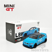 MINI GT 1:64 LBWK LB performans M4 bebek mavi RHD pres döküm Model araba