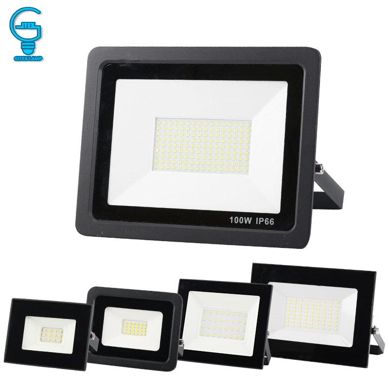 10W 20W 30W 50W 100W LED Flood Light 220V 240V Outdoor Floodlight Waterproof IP65 Reflector Spotlight Professional Lighting