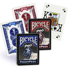 Bicycle Pro Poker Peek Index Playing Cards Blue/Red Deck Poker Size USPCC Magic Card Games Magic Tricks Props for Magician bicycle tragic royalty playing cards original poker cards for magician collection card game