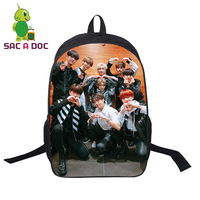 Stray Kids 3D Print Backpack Women Men Bags 16 Inch Cartoon Anime It Chapter Two School Bags Black Backpack for Teens Students