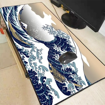 XGZ Great Waves Art Mousepad Large Size Gaming Keyboard Mouse Pad Computer Laptop Pc Game for CSGO DOTA LOL Gamer with Lock Edge 1
