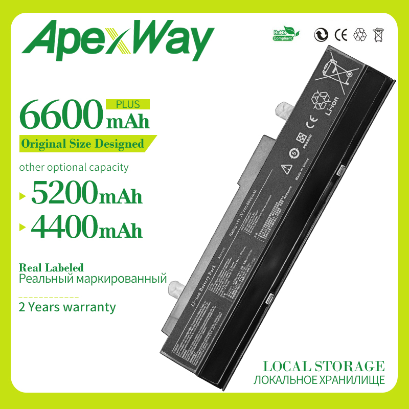 Apexway 6 Cells 11.1v  A32-1015 Laptop Battery For ASUS Eee PC 1011B 1011BX 1011C 1011CX 1011P 1011PDX 1011PD 1011PN 1011PX