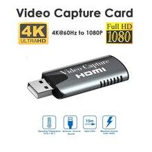 Новый мини-приставка для записи видео HD 1080P HDMI-USB для компьютера Youtube OBS и т. Д. Потоковая трансляция в прямом эфире