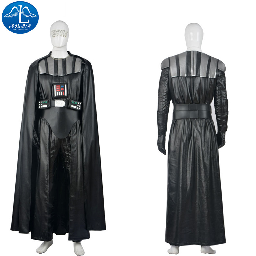 Manluyunxiao Darth Vader Cosplay Halloween Costumes For Men Star War Anakin Skywalker Outfit Jedi Masquerade Suit Custom Made