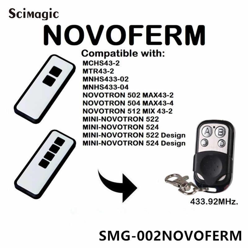 コマンド novoferm MCHS43-2 MTR43-2 MNHS433-02 MNHS433-04 novotron 502 MAX43-2 433.92 433mhz のリモートコントロールガレージゲートドア