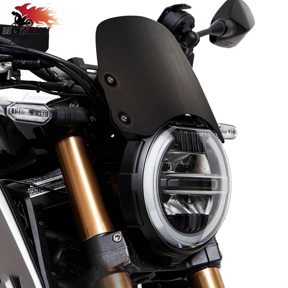CNC Motorcycle Black Windshield WindScreen Deflector Visor For HONDA CB650R Neo Sports Cafe CB1000R Neo Sports Cafe 2018-2020
