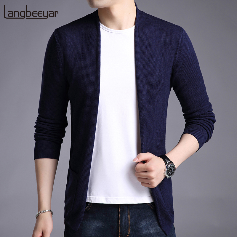 New Fashion Brand Sweater For Mens Pullovers Solid Color Slim Fit Jumpers Knit Woolen Autumn Korean Style Casual Men Clothes