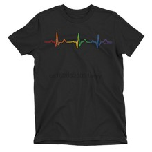 Gay Pulse Festival LGBT MENS T-Shirt with Pride Colours Mardi Gras London(China)